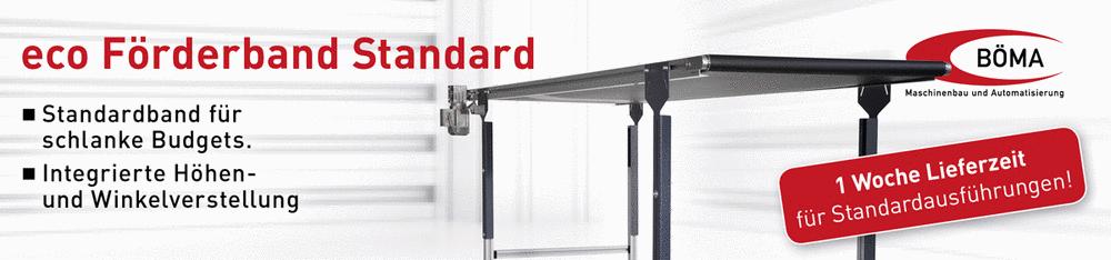 Eco Förderband Standard mit schneller Lieferzeit von nur einer Woche bei Böma Maschinenbau und Automatisierung aus Alberschwende in Österreich