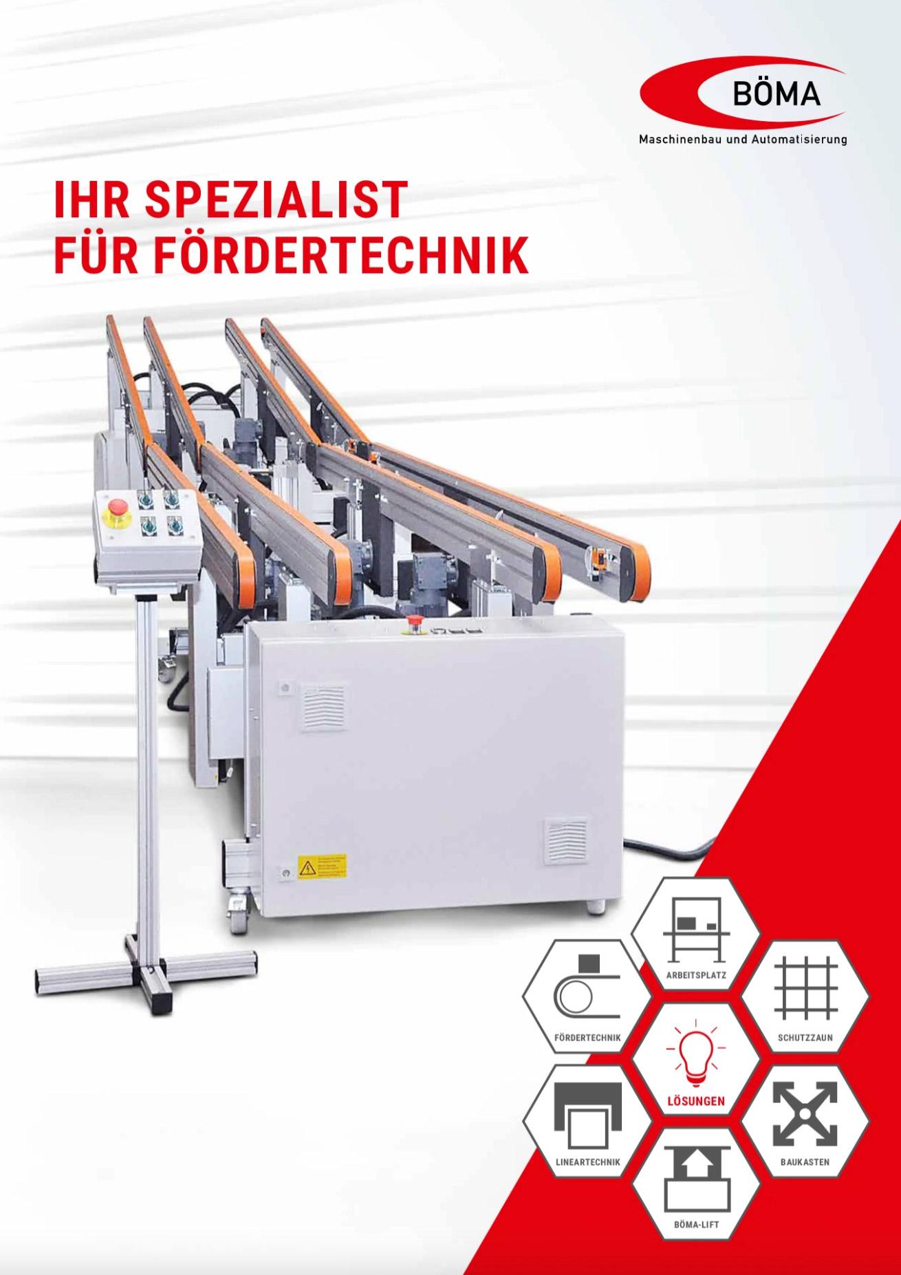 Borschüre Böma Maschinenbau und Fördertechnik aus Alberschwende in Vorarlberg, Österreich
